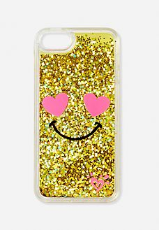 Heart Eyes Glitter Emoji Case for iPod® Touch