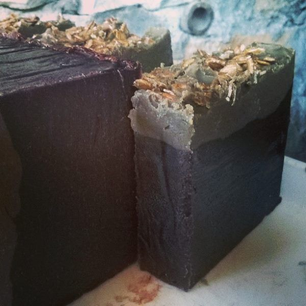 pure olive oil soap with cocoa