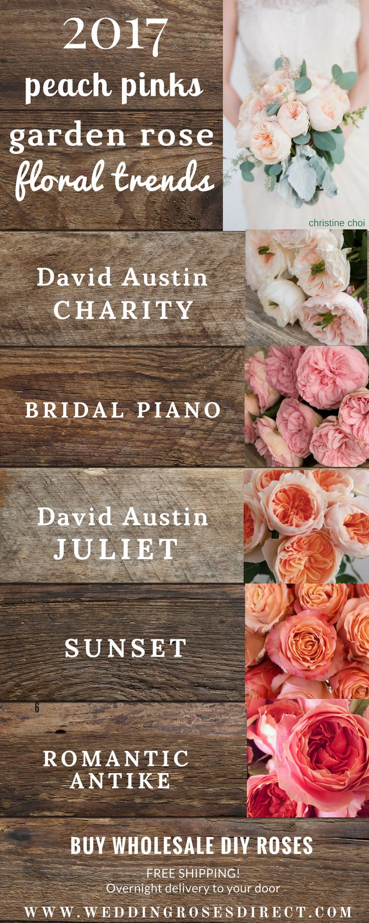 2017 Garden Rose BOUQUET trends! Your  #1 source for DIY Garden Roses! www.weddingrosesdirect.com #gardenrosebouquet #diyflowers #davidaustin  #bouquet #diybouquet #pinkroses #pinkgardenroses
