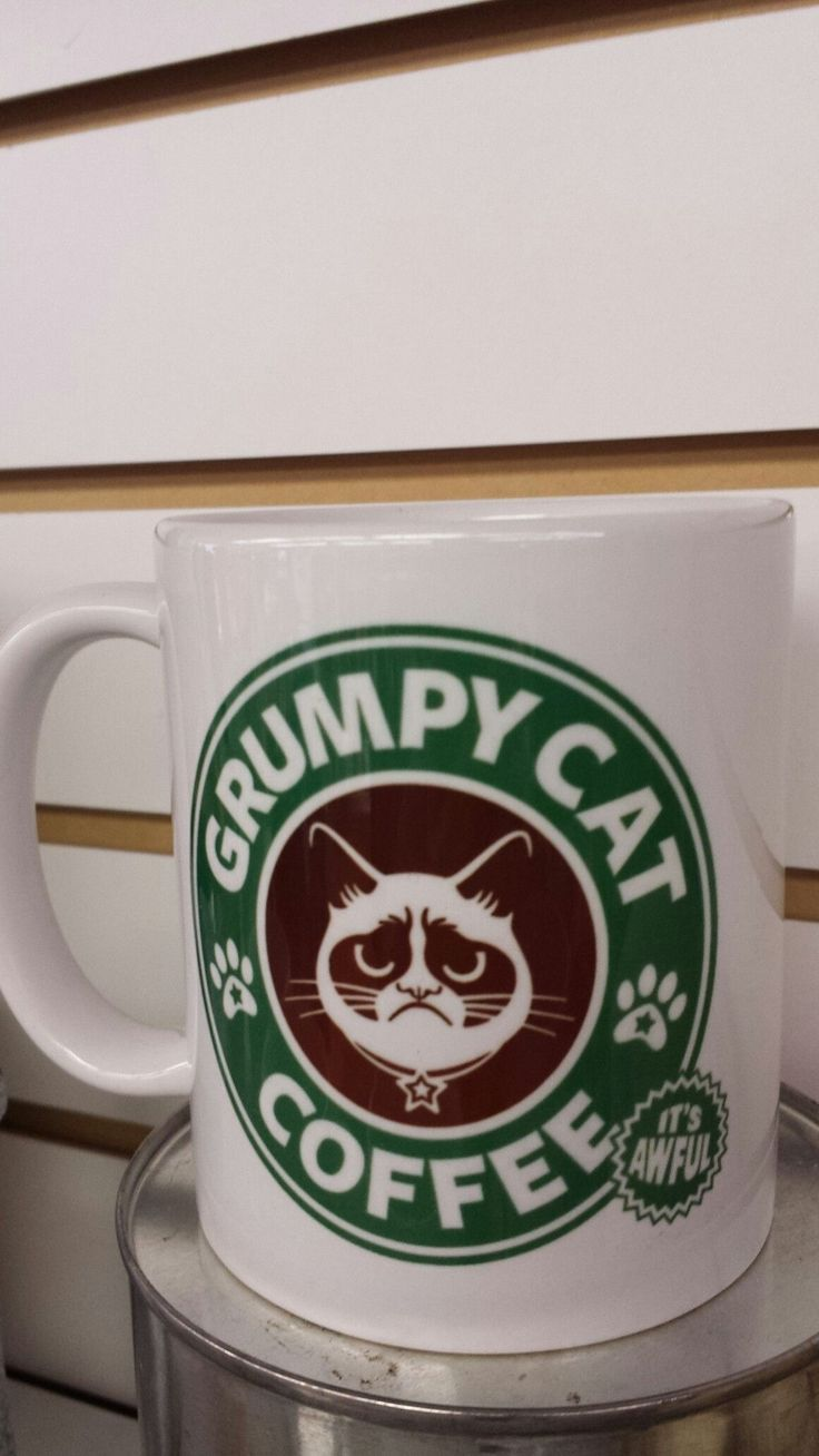 Grumpy Cat Starbucks coffee mug #CatQuotes