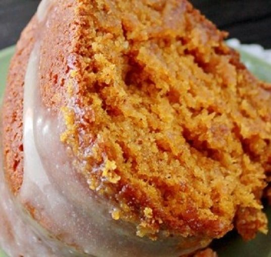 PUMPKIN BUTTERMILK POUND CAKE with CINNAMON BUTTERMILK GLAZE * from scratch * bundt pan * keep a can of powdered buttermilk in your pantry for recipes *