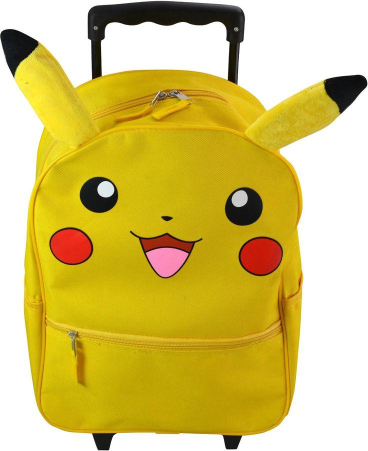 "Wholesale Backpacks Top Quality Pokemon ""Pikachu"" 16"" Rolling Backpacks - 48 Units"