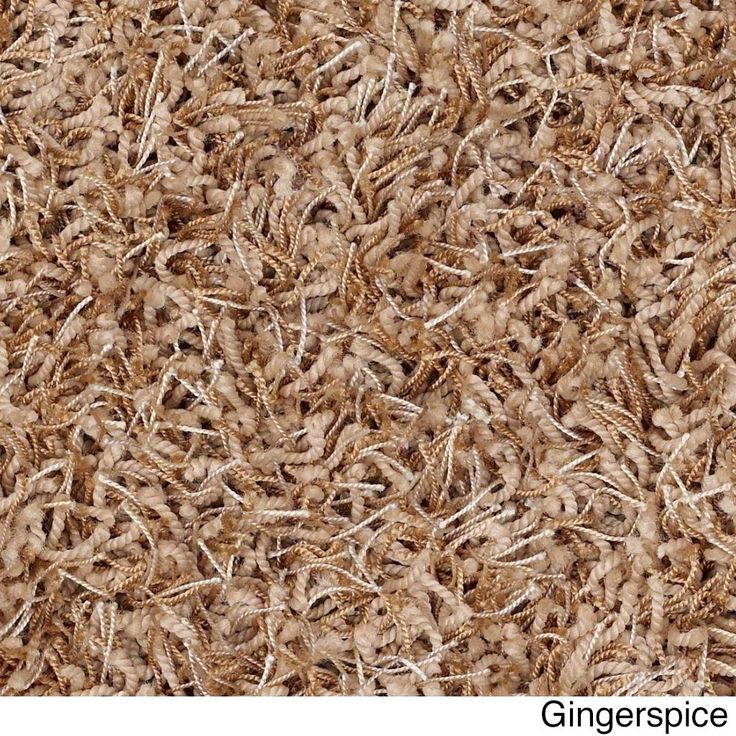 """Shaw Bling Collection Super Shag Oversized Area Rug (12' Round) (Z6809-613 Ginger Spice), Beige, Size 11'9"""" x 11'9"""" (Nylon, Solid)"""