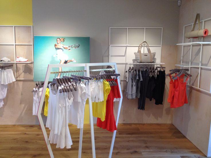 adidas by Stella McCartney store set up May 2012 London, Fulham Rd. #vm #visualmerchandising #retail #adidas #stella
