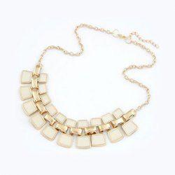 $4.68 Brilliant Small Square Pendant Alloy Necklace For Women