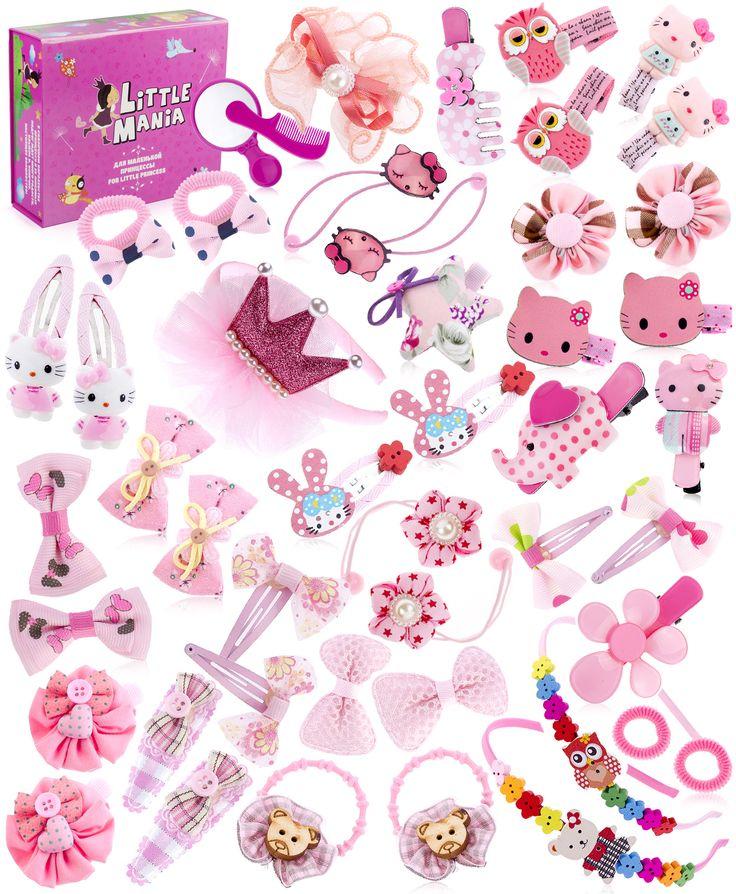 Набор аксессуаров для волос Дюймовочка (в подарочной коробке) Little Mania (арт.21169658) Цвет: мультиколор В комплекте: подарочная коробка, зеркало, расческа, 3 ободка, 10 резинок, 32 заколки