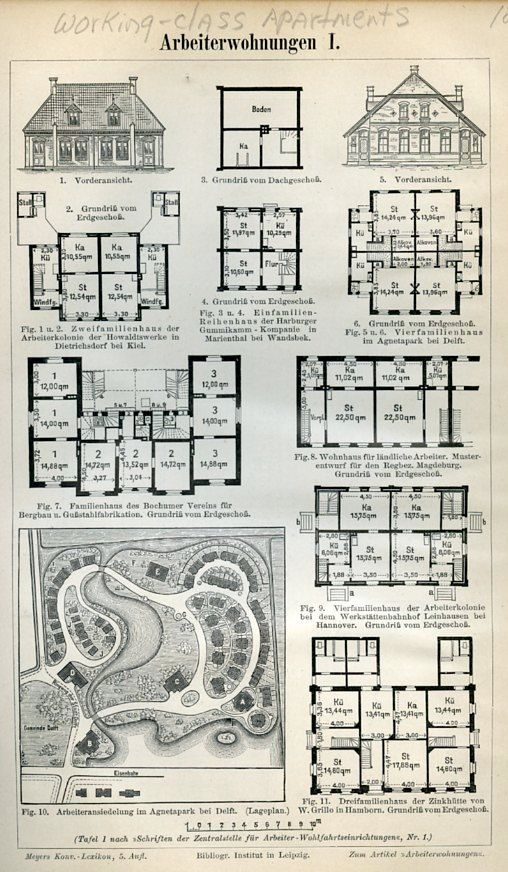 10 best architecture art images on pinterest architectural 1894 pages from german lexicon working class apartments with diagrams malvernweather Gallery