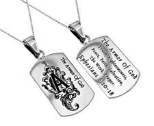 'Armor of God' - Women's Dog Tag Necklace