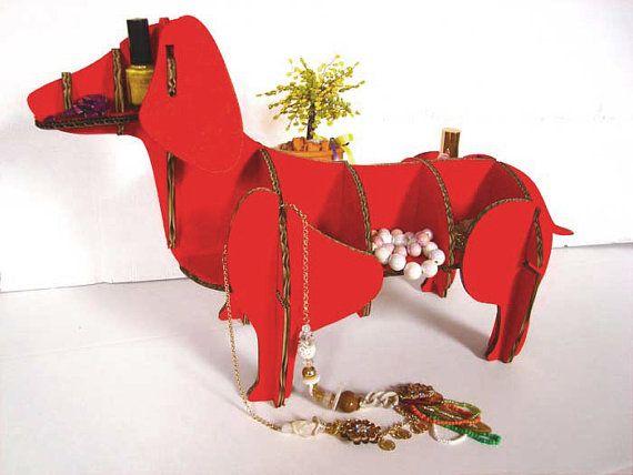 Cane rosso di cartone per ufficio mobile di di bottegadicartone