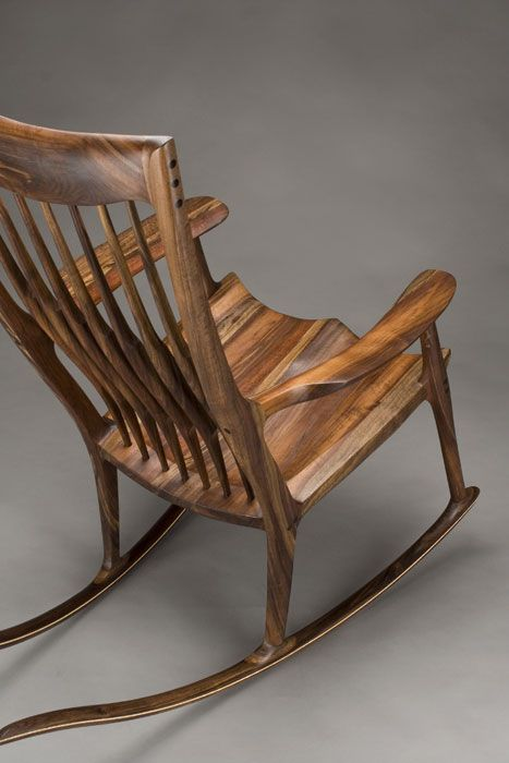 Classic Maloof Style Rocking Chair By Scott Morrison Fine Woodworker