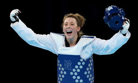 19 year old Jade Jones from Flintshire  makes it look easy as she takes gold in Women's Taekwondo on Day 13 #TeamGB #London2012