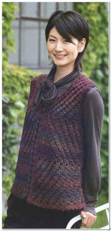 схемы вязания для девушек спицами кофточек дырчатые
