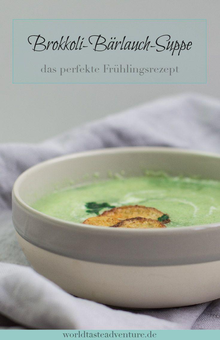 {Frühlingsliebe} Brokkoli-Bärlauch-Suppe  Herzhafte, vegetarische Bärlauch Suppe perfekt für den Frühling.