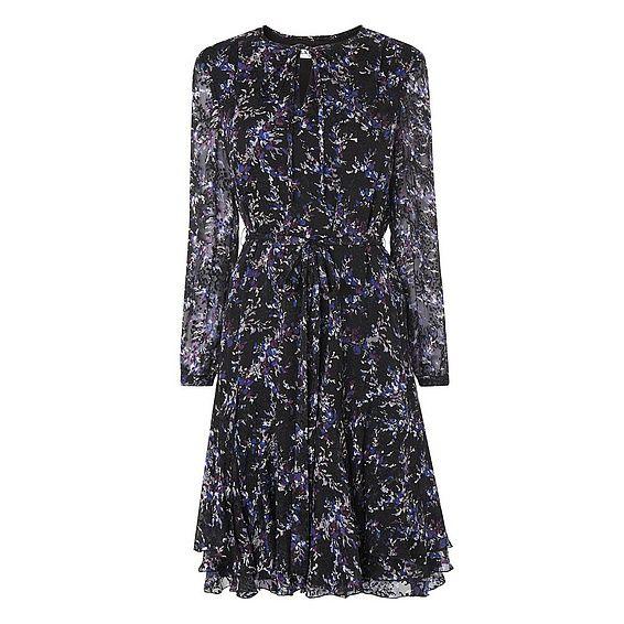 LK Bennett Elleri Purple Silk Dress