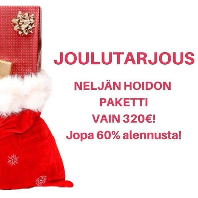 #Joulutarjous #Hoidot ja #lahjakortit jopa 60% halvemmat! #muutosvalmennus #stressivalmennus #hypnoterapia #AccessConsciousness #AccessBars #onnenportti #uusielämä #ostaheti #joululahja #pukinkonttiin #lahjakortti