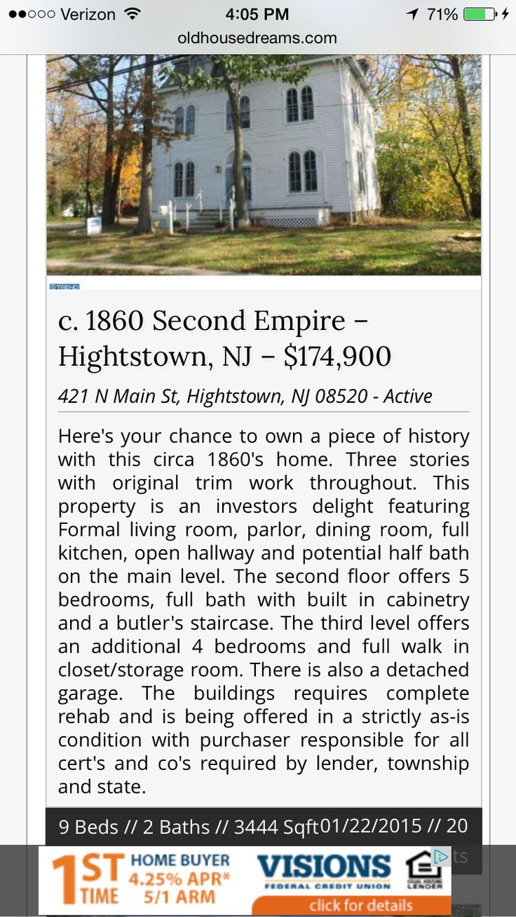 Old home in Hightstown, NJ for sale. fixer upper