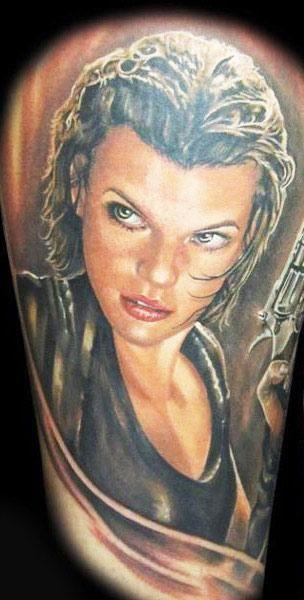Realism Movies Tattoo by Randy Engelhard - http://worldtattoosgallery.com/realism-movies-tattoo-by-randy-engelhard-4/