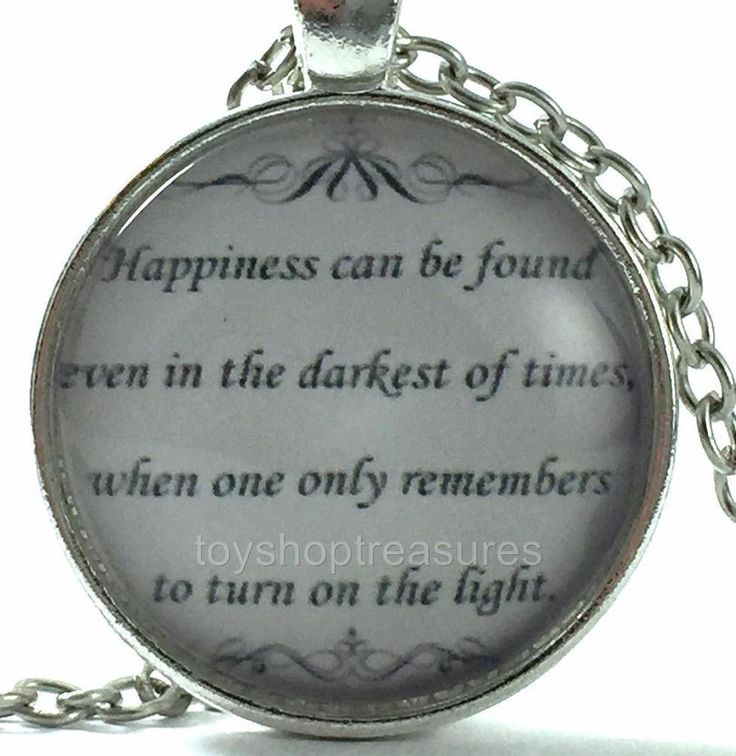 New Quote Inspirational Necklace - Happiness Can Be Found - Silver f