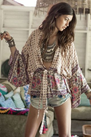 Desert Rose Short Kimono - Blush