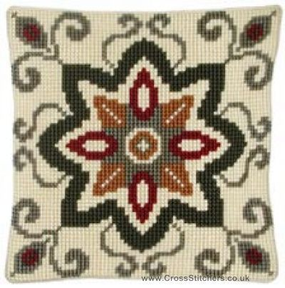 Geometric 7 Cushion Front Cross Stitch Kit by Vervaco