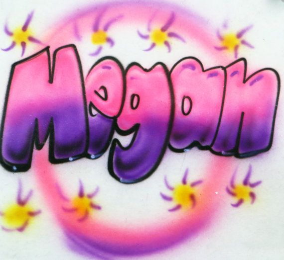 bubble letter name design airbrushed shirt bubbles and