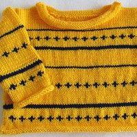 Dětský pletený svetřík, pruhovaný, handmade, baby sweater.
