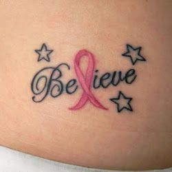 One day my mom, sister and I are getting breast cancer tattoo's.