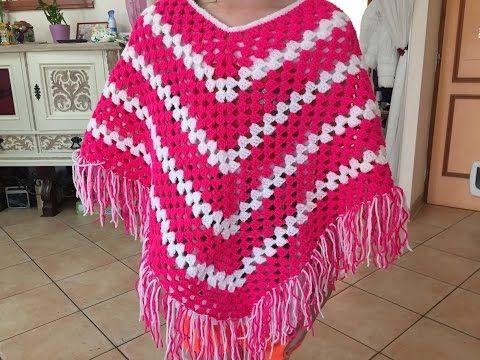"""Tuto poncho, tres sympa et surtout très facile a faire. Laine """"charly"""" de chez http://phildar.fr ( bonne laine pas chère) Un crochet N°4"""