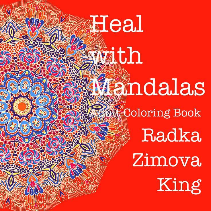 Adult Coloring Book Heal with Mandalas