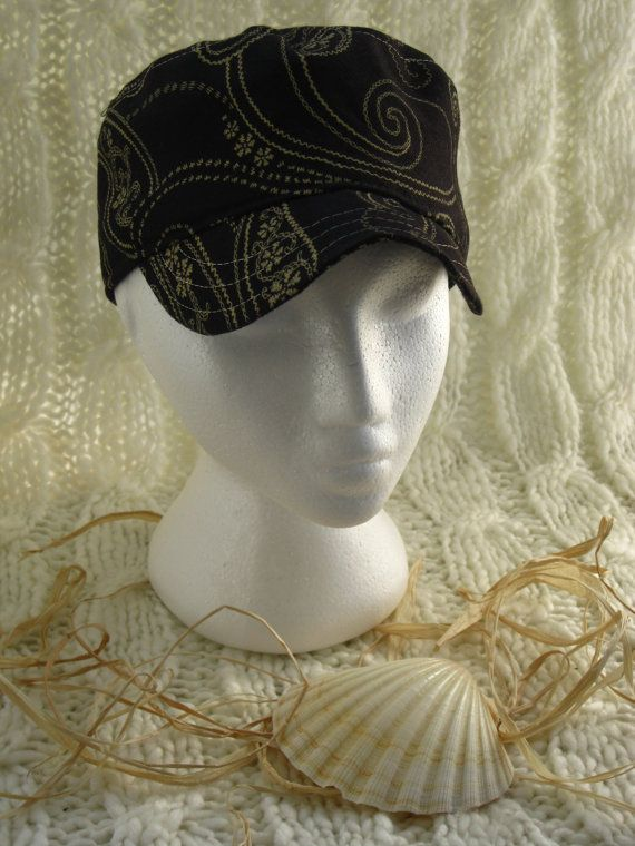 Funky Paisley print Hat with contrasting by BrambleWoodANDivy