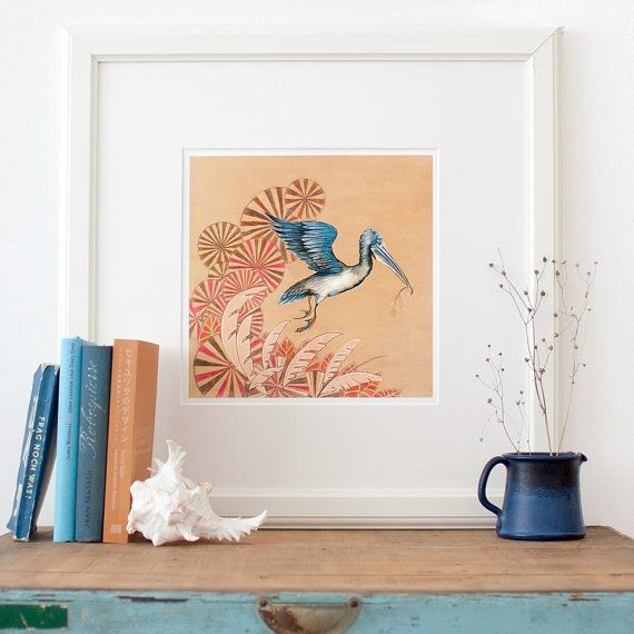 Pelican Fine Art Print, pretty illustration by Theresa Grieben