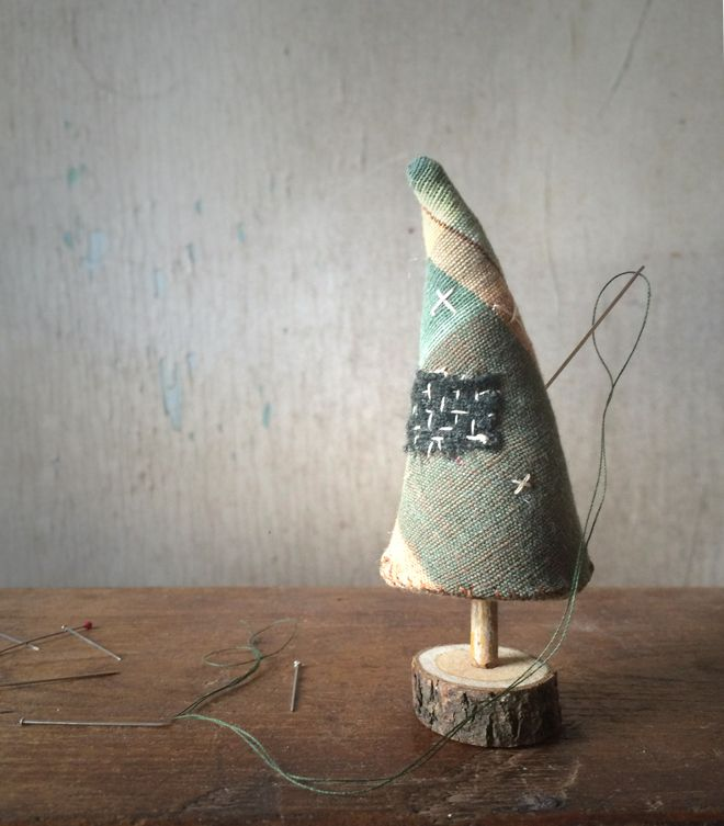 Woebegone pines, forlorn little trees who do not concern themselves with perfection.  These trees are all about heart and that particular magic that something made by hand possesses. I've mad…