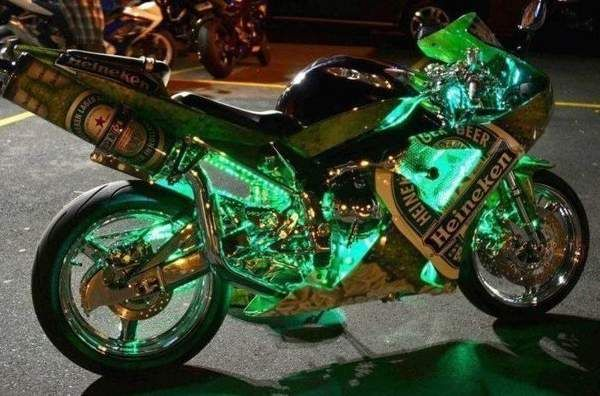 Installation of LED lights on motorcycle: what is needed and how to do it.