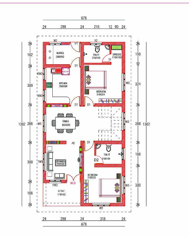 4 Bedroom Box Type Home For 30 Lakhs With Free Plan Free Kerala Home Plans Budget House Plans 20x40 House Plans Bungalow Floor Plans