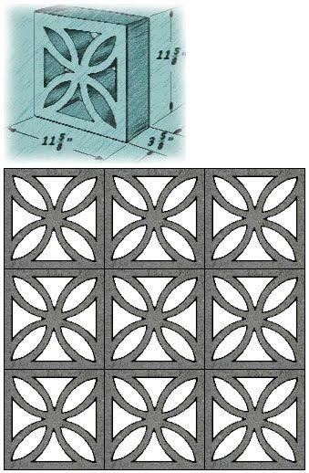 103 best design breeze blocks images on pinterest for Decorative block wall designs