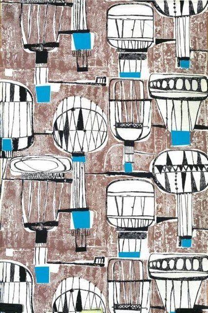 "Tkanina ""Balony"", proj. Danuta Paprowicz-Michno, 1964 r."