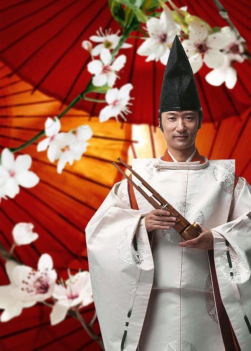 Hideki Tougi 雅楽師 Musican. Japan