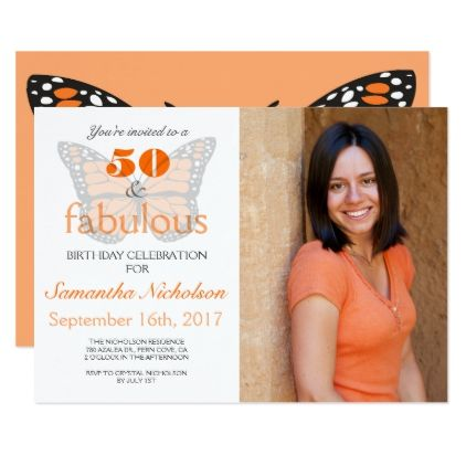 #50 and Fabulous 50th Birthday Party Invite - #birthdayinvitation #birthday #party #invitation #cool #parties #invitations