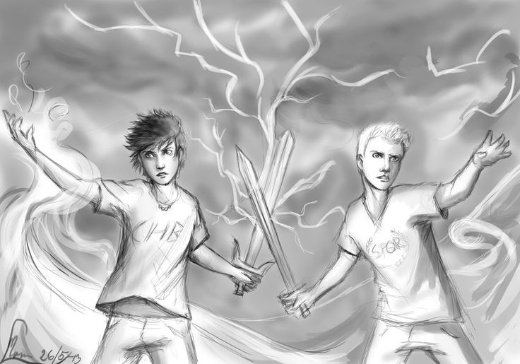 Percy Jackson and Jason Grace. AH WHEN THEY WORKED TOGETHER WAS LIKE MY FAVORITE PART OF BOTH SERIES TOGETHER THEY'RE UNBEATABLE I WAS CRYING!!!!