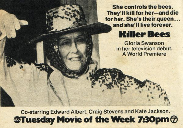 Killer Bees 1974 TV Guide ad