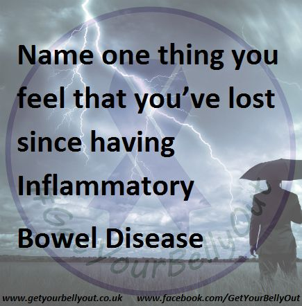 Name one thing you feel that you've lost since having Inflammatory Bowel Disease