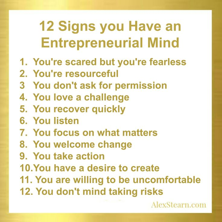 12 Signs you have an entrepreneurial Mind #Entrepreneur