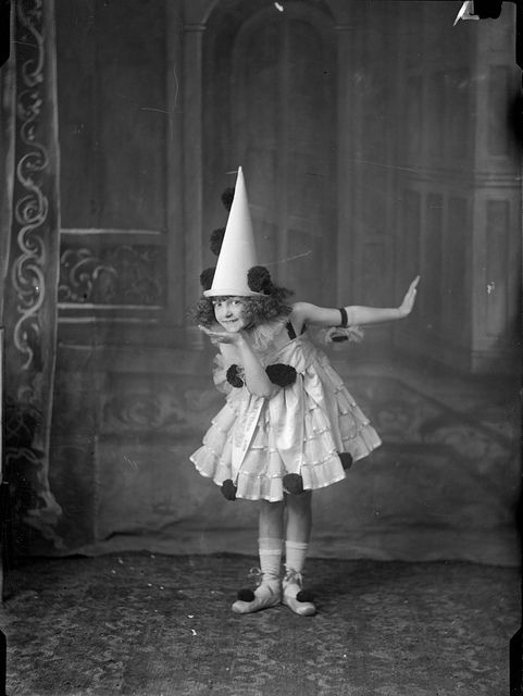Child posing in Pierrot costume / Arthur William Emmerton | Flickr - Photo Sharing!