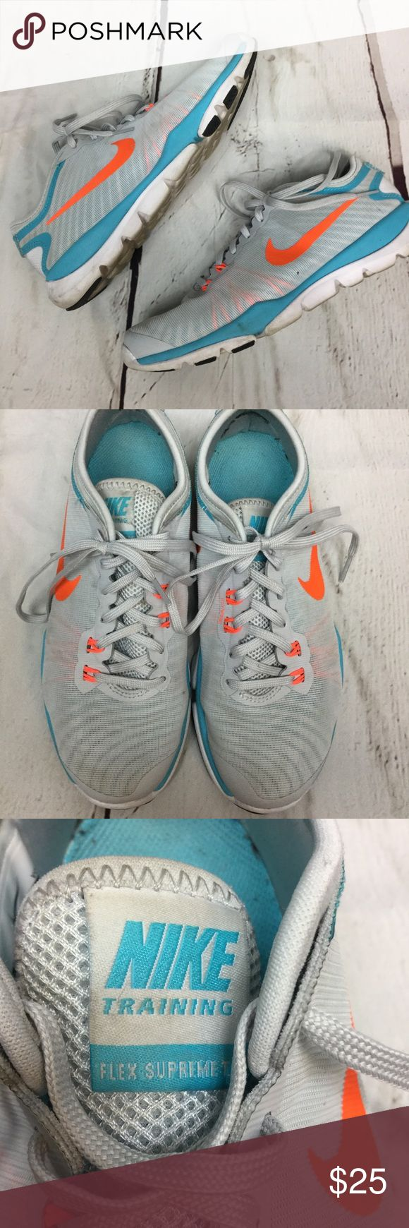 Nike training shoes Preowned, Nike shoes. Good condition. A few scuffs and minor stains that could be washed off. Nike Shoes Athletic Shoes