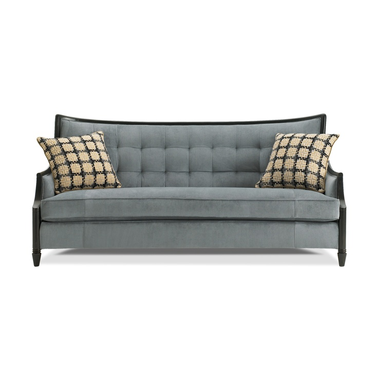 """RC Willey - 79"""" Blue Upholstered Sofa"""