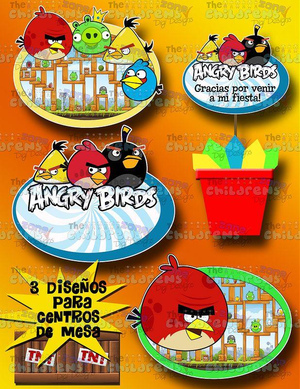 Invitaciones Angry Birds-mega Paquete Fiesta Angry Birds - $ 200.00