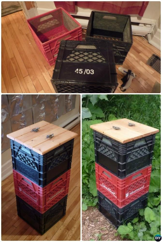 DIY Stacked Milk Crate Compost Bin Instruction-12 Simple DIY Compost Bin Projects