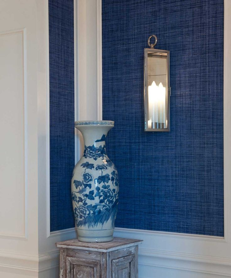 Cobalt Grasscloth, Maybe For Entry Hall