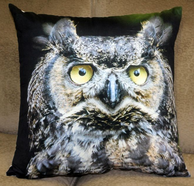 Staring Owl Cushion in Black  #Cushion | #Owl | #Sale | #BlackCushion | #PhilBee | #Decor | #Melbourne | #Interiors | #InteriorDecorator | #Cushions | #OwlCushion