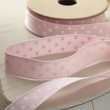 Fabric Ribbon-Pink Polka Dot